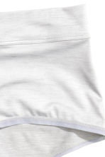 Microfibre shorts High waist - Grey/Silver - Ladies | H&M CN 2