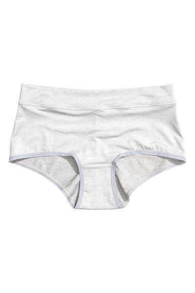 Microfibre shorts High waist - Grey/Silver - Ladies | H&M CN 1