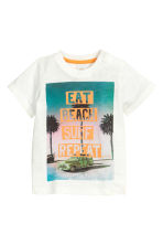 Printed T-shirt - White - Kids | H&M CN 1