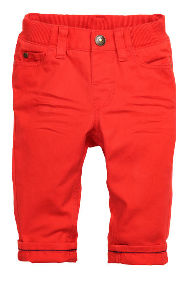 Twill trousers - Red - Kids | H&M CN 1