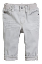 Twill trousers - Grey - Kids | H&M CN 1