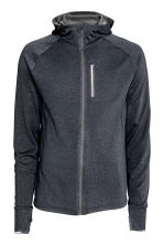 Hooded running jacket - Dark grey marl - Men | H&M CN 2
