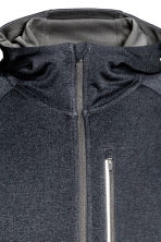 Hooded running jacket - Dark grey marl - Men | H&M CN 3