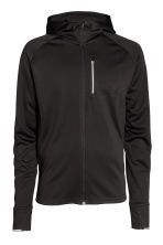 Hooded running jacket - Black - Men | H&M 2