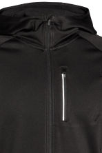 Hooded running jacket - Black - Men | H&M 3