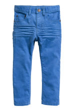 Corduroy trousers - Cornflower blue - Kids | H&M CN 2