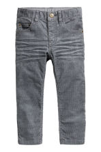 Corduroy trousers - Dark grey - Kids | H&M CN 2