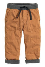 Lined pull-on trousers - Camel - Kids | H&M CN 2