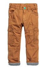 Lined cargo pants - Camel - Kids | H&M CN 2
