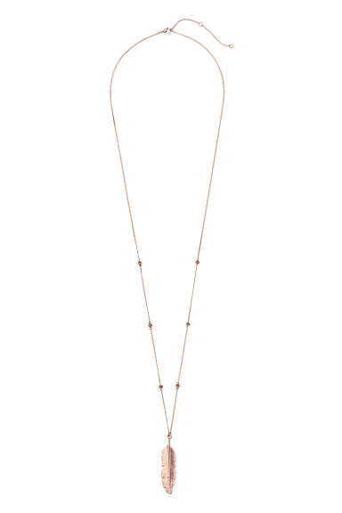 Long necklace with pendant - Rose gold -  | H&M