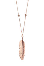 Long necklace with pendant - Rose gold - Ladies | H&M CN 2