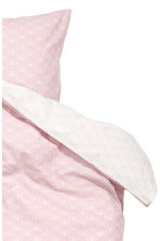 Patterned duvet cover set - Light pink - Home All | H&M CN 3