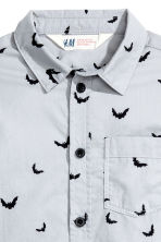 Printed cotton shirt - Light grey/Bat - Kids | H&M CN 3