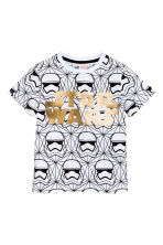 Printed T-shirt - White/Star Wars -  | H&M CN 2