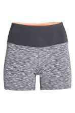 Short yoga tights - Grey marl - Ladies | H&M CN 2