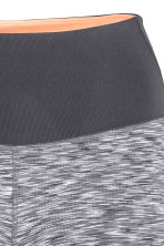 Short yoga tights - Grey marl - Ladies | H&M CN 4