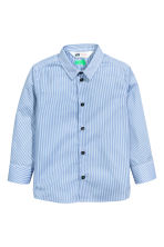 Easy-iron shirt - Blue/Striped - Kids | H&M CN 2