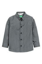 Easy-iron shirt - Dark grey/Stars - Kids | H&M CN 2