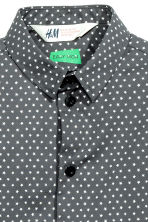 Easy-iron shirt - Dark grey/Stars - Kids | H&M CN 3