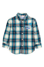 Cotton shirt - Turquoise/Checked - Kids | H&M CN 2