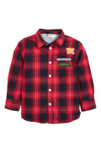 Cotton shirt - Red/Checked - Kids | H&M CN 2