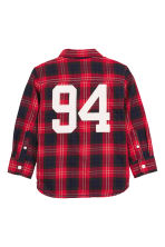 Cotton shirt - Red/Checked - Kids | H&M CN 3