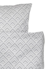 Patterned duvet cover set - Light grey - Home All | H&M CN 3