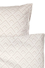 Patterned duvet cover set - Light beige - Home All | H&M CN 3