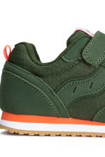 Mesh trainers - Dark khaki green - Kids | H&M CN 3