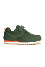 Mesh trainers - Dark khaki green - Kids | H&M CN 1