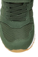 Mesh trainers - Dark khaki green - Kids | H&M CN 4