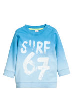 Printed sweatshirt - Blue - Kids | H&M CN 1