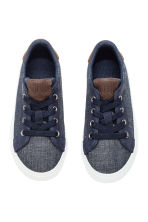Denim trainers - Dark denim blue - Kids | H&M CN 3