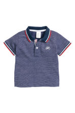Polo shirt - Dark blue marl - Kids | H&M CN 1