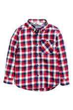 Flannel shirt - Red/Checked - Kids | H&M CN 2