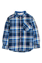 Flannel shirt - Dark blue/Checked - Kids | H&M CN 2