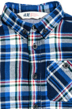 Flannel shirt - Dark blue/Checked - Kids | H&M CN 3