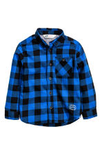Flannel shirt - Cornflower blue/Checked - Kids | H&M CN 2
