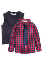 Shirt and slipover - Dark blue - Kids | H&M CN 2