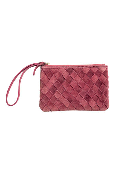 Suede clutch - Raspberry red - Ladies | H&M CN 1