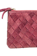 Suede clutch - Raspberry red - Ladies | H&M CN 2