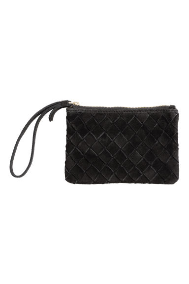 Suede clutch - Black - Ladies | H&M CN
