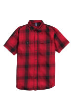 Checked cotton shirt - Red/Checked - Men | H&M CN 2