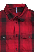Checked cotton shirt - Red/Checked - Men | H&M CN 4
