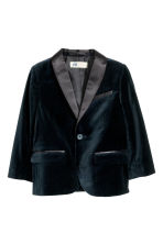 Cotton velvet jacket - Dark blue - Kids | H&M CN 2