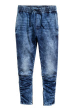 Slim Low Joggers - Donker denimblauw/wassing - HEREN | H&M NL 1