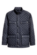 Quilted jacket - Dark blue - Men | H&M 3