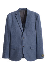 Jacket in a linen blend - Dark blue marl - Men | H&M CN 2