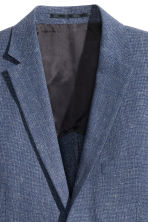 Jacket in a linen blend - Dark blue marl - Men | H&M CN 4