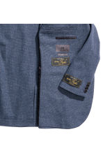 Jacket in a linen blend - Dark blue marl - Men | H&M CN 3
